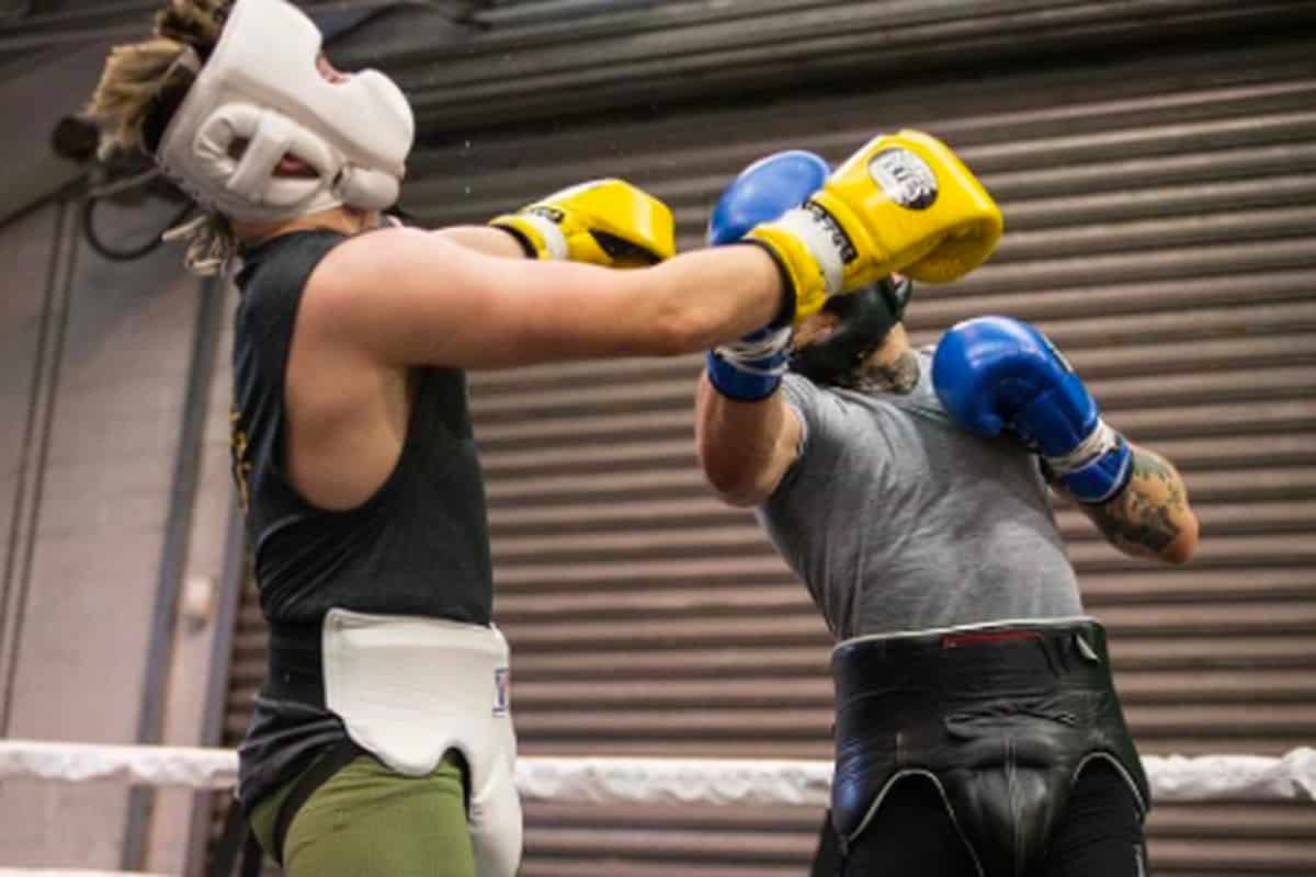 sparring training